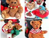 Vintage Kurt S. Adler Ornaments, Christmas, Holiday, Teddy Bears, Tree, Decorations, Collectibles