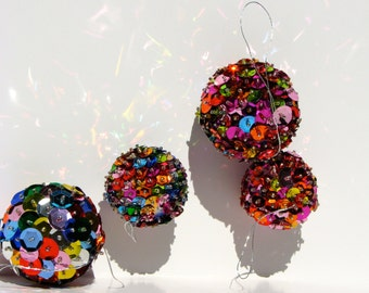 Handcrafted Sequin Ornaments
