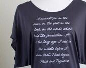 Pride and Prejudice Shirt Mr. Darcy Quote - Jane Austen Quote - Pride & Prejudice Quote