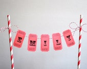 Personalized Cake Bunting Banner / Cake Topper / Carnival Cake Banner / Circus Themed Cake Banner