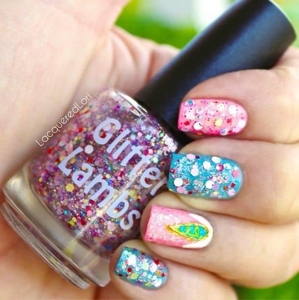 Sation Cotton Candy By Fingernail Polish: Unicorns Love Cotton Candy Nail Polish By GlitterLambsPolish