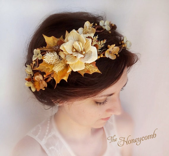 Crown Wedding Hair Accessory: Items Similar To Fall Hair Accessories, Flower Crown