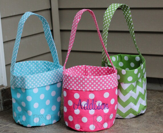Items Similar To Monogrammed Easter Baskets On Etsy