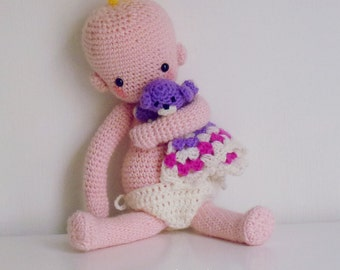 doll crochet pattern amigurumi crochet baby doll babies doll instant ...