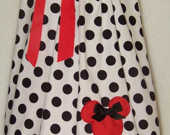 Minnie Mouse Pillowcase Dress / Mickey / Disney / Red/ Black/ Newborn / Infant / Baby / Girl / Toddler / Handmade / Custom Boutique Clothing