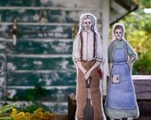 Anne of Green Gables Art Dolls. Matthew and Marilla Cuthbert. Hand-painted embroidered cloth dolls by alyparrott on Etsy.