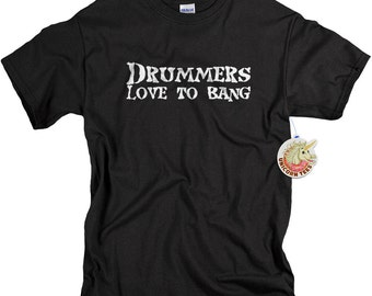 Drummer shirt gifts for drummers drumming drummer tshirt funny drummers love to bang t shirt for men
