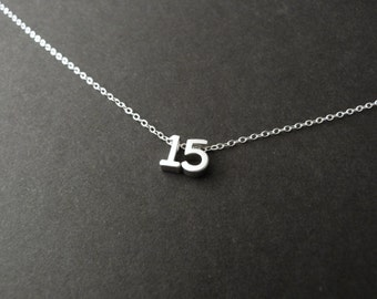 Quinceañera necklace, 15th birthday party gift
