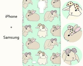 Bunny iphone case,bunny samsung case,rabbit,iphone case,case,s5,5c,mint,iphone,s6,5s,iphone cover,5c,mint,5,case,iphone 5,animal,iphone 6,5