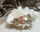Beach Wedding Vintage Inspired Ring Bearer's Shell