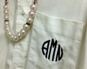 Custom Monogrammed Women's Fit Button Down