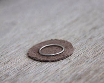 thin sterling silver ring, Mixed metal ring, stacking ring set, mix and match rings,