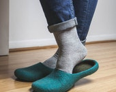 My Boyfriend slippers / Felted wool slippers in unisex style Handmade To Order