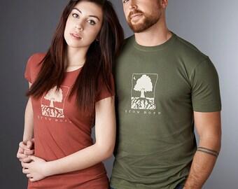GROW MORE Womens Tshirt, Eco-friendly Bamboo Organic Clothing, Tree T shirt, Gardening Tee, Environmental T-shirt by Uni-T