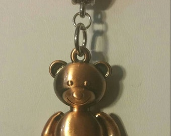 Copper Bear Kumihimo Necklace
