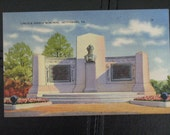 Lincoln Speech Memorial, Vintage Postcard