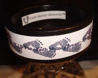 Bracelet, Faith & Joy , Pregnancy and Infant Loss Awareness Bracelet, Birthday Gift, Woman Gift, Angel Baby, Memorial Bracelet - Footprints