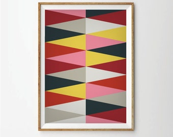 Abstract poster, Retro poster, Geometric poster,  Abstract posters, Abstract Art, Geometric Posters, Retro Art
