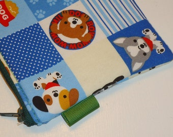 Padded Zippered Pouch / Puppies Camera Bag / Kawaii Card Holder / Phone or Camera Bag / Card Holder / Coin Purse  -- Other Colors Available