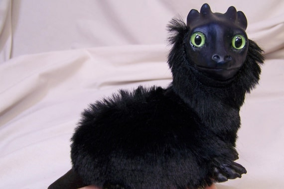 Pet Baby Dragon Hand Puppet Made To Order In Your Color Choice
