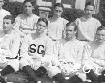 1923 Boys Baseball Team St. George's School Newport Rhode Island Photogravure Athletics Print To Frame