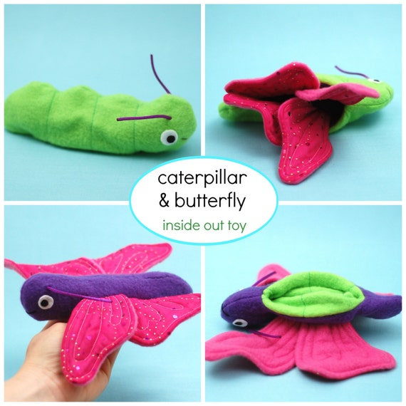 Caterpillar and Butterfly Reversible Toy - PDF Sewing Pattern