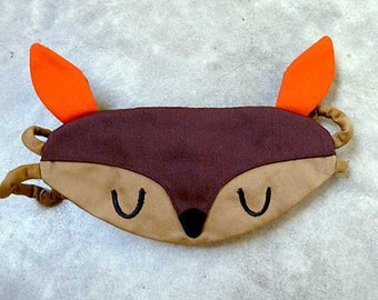Sleep Eye Mask - Doe A Deer (Brown Camel)