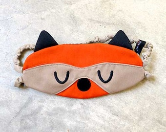 Raccoon Sleep Eye Mask, Raccoon Sleep Mask, Raccoon Eye Mask, Sleep eyemask, Raccoon Mask, beauty sleep, Bandit The Raccoon, ORANGE colors