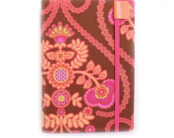 iPad Mini Cover - Retro Pop Floral - hot pink and chocolate damask - iPad Mini case - fits retina model - tablet accessory tech gear