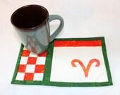 Aries Sign Mug Rug Zodiac Symbol