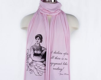 Jane Austen Screen printed Cotton Scarf