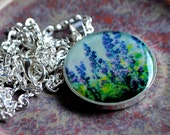 The Lilacs Silver Plated Pendant Necklace