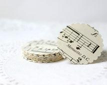 Music Stickers, Sheet Music Seals, Adhesive Seals, Envelope Seals