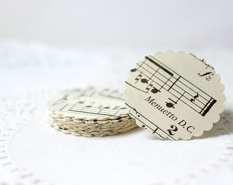 Music Stickers, Sheet Music Seals, Adhesive Seals, Envelope Seals
