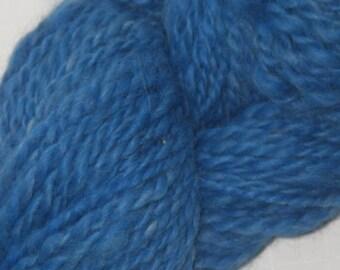 Royal Blue Handspun Alpaca Yarn  124 yds