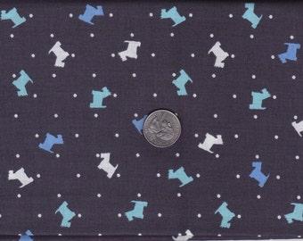 Fat quarter -  Scottie Toss in Boy - Houndstooth and Friends - Michael Miller cotton quilt fabric
