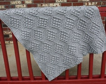 Diamond Slate Afghan Crochet Pattern