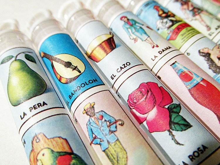 Loteria Mexican Wedding Favors Bubble Wands Set Of 25