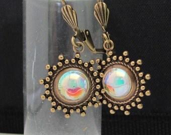 Crystal Earrings, Swarovski Earrings, Antiqued Vintage Style, Boho Bohemian Earrings, Victorian Earrings, Dangle Drop Earrings, Gift For Her