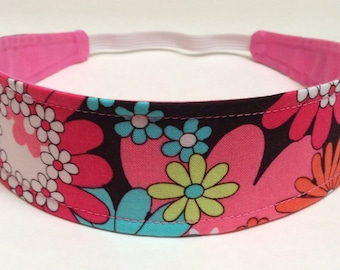 Girls Childs Childrens Headband  -  CARNIVAL -  Reversible Fabric