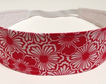 Reversible Fabric  Headband  -  LAYLA in RED-  Headbands for Women