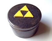 Zelda Triforce inspired Glitter Glaze Trinket, Jewelry, Change Box. Candy Dish, Gift Wrapping