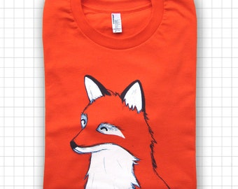 Happy Red Fox American Apparel T-shirt
