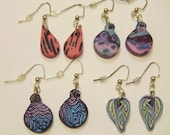 FINAL CLEARANCE - Lot of 4 Small Dangle Polymer Clay Earrings