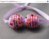 On sale - 45 % off Elizabeth Creations WILDBERRIES artisan lampwork matching handmade glass beads Sra