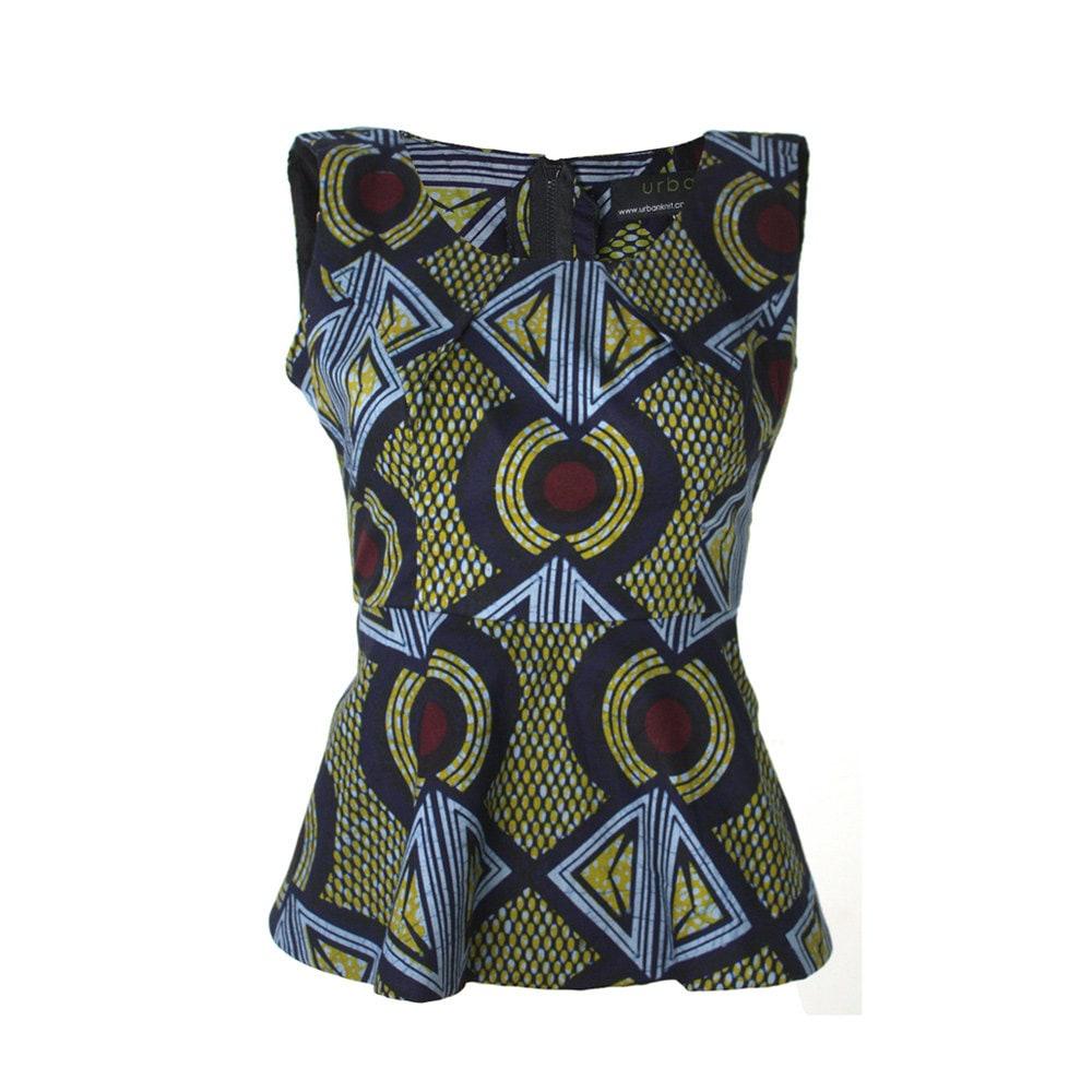 ankara peplum top african print top ankara print by urbanknit