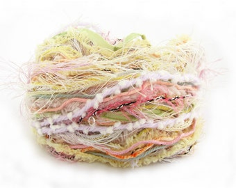 Mixed fibers, Creative Yarn Variety Pack, Pale Pastels, 30 metres, lemon blue peach pink green, inspiration craft supplies, pastel ice cream