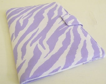 "SALE Zebra Print 8.9"" Kindle Fire HD Cover Pastel Purple and White"