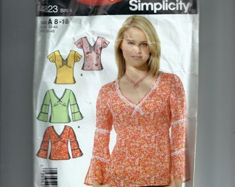 Simplicity Misses' Pullover Top Pattern 4823