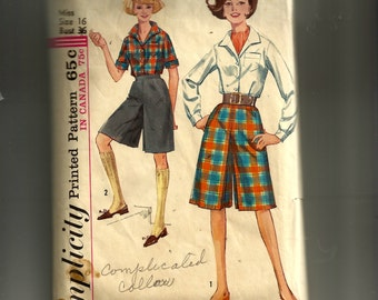Simplicity Juniors'  and Misses'  Culottes in Two Lengths and Blouse Pattern 5154
